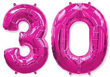 FIESTADEKOR Globo número 30 para Fiestas de cumpleaños y ...