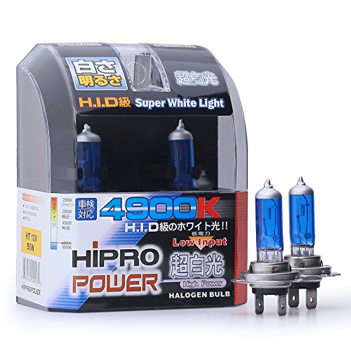 Hipro Power H7 White 55 Watt Xenon HID Headlight Bulbs, used for sale  Delivered anywhere in USA