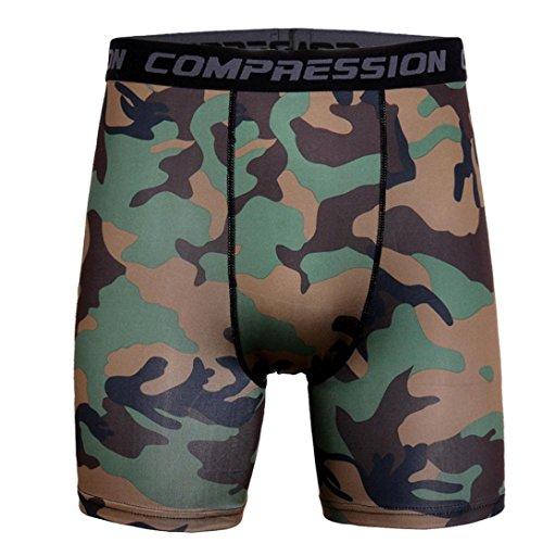 Binmer Men's Sports Training Bodybuilding Summer Shorts Workout Fitness Gym Short Pants (L, Army Green) ()
