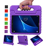 BELLESTYLE Samsung Galaxy Tab A 10.1 Case - Shockproof Light Weight Protection Handle Stand Kids Case for Samsung Galaxy Tab A 10.1 Inch (SM-T580 / SM-T585) Tablet 2016 Release (Purple)