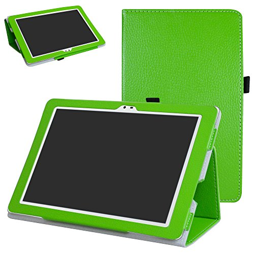Insignia Flex NS-P16AT10 10.1 Tablet Case,Mama Mouth PU Leather Folio 2-folding Stand Cover for 10.1 Insignia Flex 10.1 NS-P16AT10 Tablet,Green