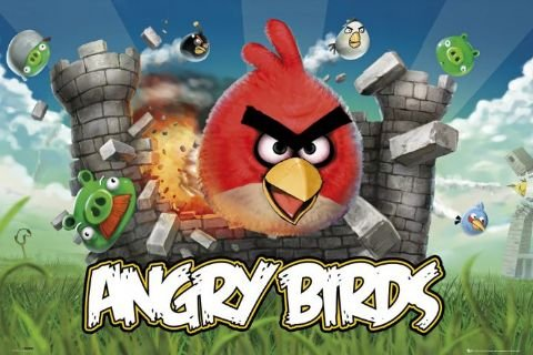(22x34) Angry Birds Video Game Poster Print