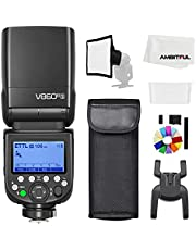 Godox V860III-S TTL 2.4G GN60 HSS Camera Flash with 10-Speed Adjustable Modeling Light, one-Key Switch TTL+2600 mA, Extremely Fast Recovery Lithium Battery Speedlite for Sony (Godox V860III-S)