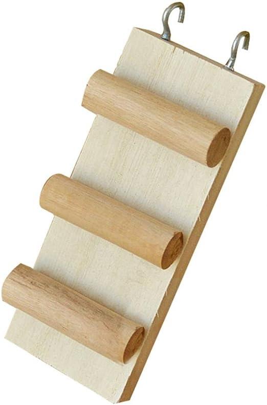 Escalera de madera para escalada de hámster, tres peldaños y cuatro peldaños, para hámster sirio, gerbil, rata, chinchilla, cobaya, ardilla, pequeña jaula de animales para masticar juguetes: Amazon.es: Productos para mascotas