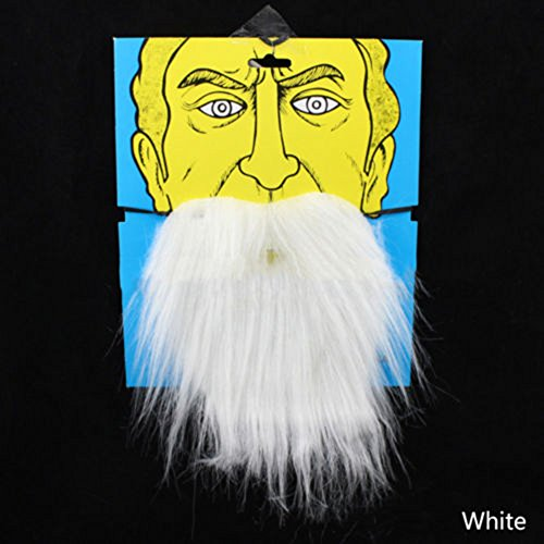 wintefei Costume Party Halloween Fake Beard Moustache Artificial Mustache Disguise Tool White -
