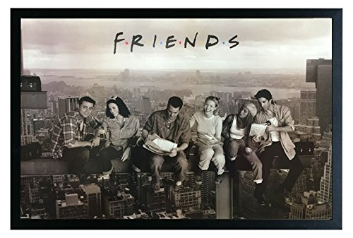 Friends Tv Show Lunch New York Framed Poster Print 36x24. On a Black Frame Made in USA. (Best Friends Framed Print)