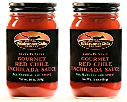 Roadrunner Chile Company Hatch New Mexico Red Chile Sauce 2 Pack Medium Hot