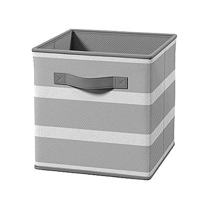 Amazon Com Closetmaid 3256 Cubeicals Fabric Drawer Gray Stripe