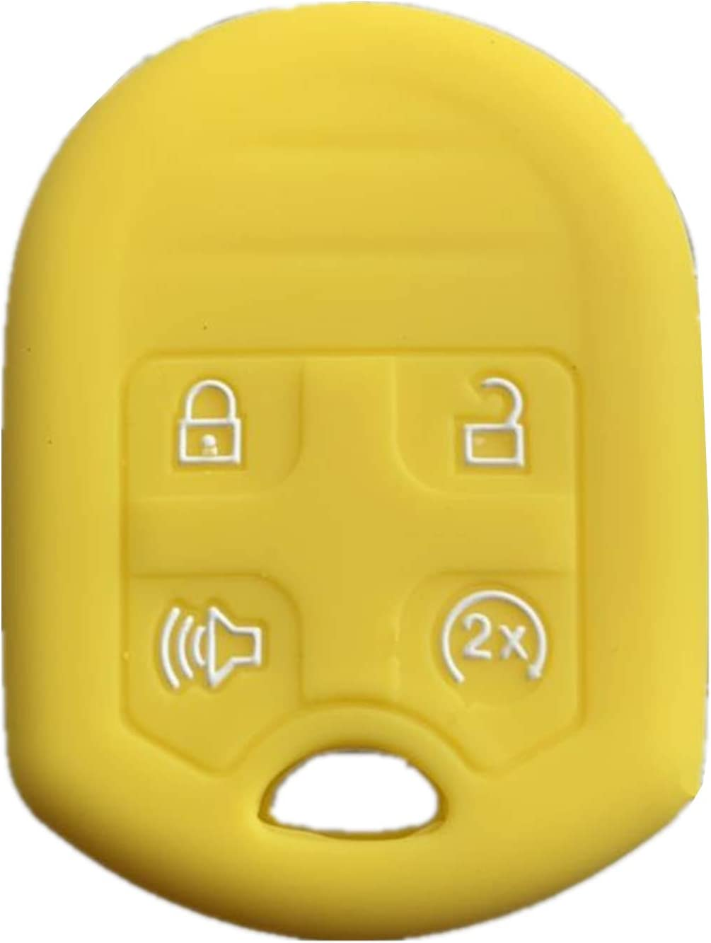 yellow Rpkey Silicone Keyless Entry Remote Control Key Fob Cover Case protector For Ford Expedition F150 F250-350 Lincoln Navigator 164-R8073 CWTWB1U793