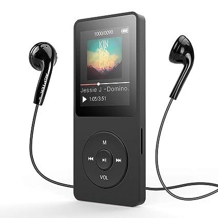 6a788d06d AGPTEK A02T Reproductor MP3 Bluetooth 4.0, Reproductor de Música 8GB con  Pantalla TFT de 1.8
