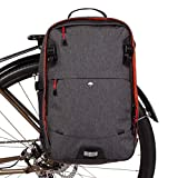 Two Wheel Gear - Pannier Backpack Convertible Lite (22 litres) - 2 in 1 Bike Commuting and Travel Bag