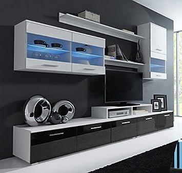 letti e mobili - mobile da soggiorno claudia bianco e nero mod. 1 ... - Mobili Soggiorno Bianco E Nero 2