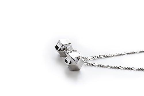 Fit Selection - Collar de Plata de Ley con diseño de Mancuernas de ...