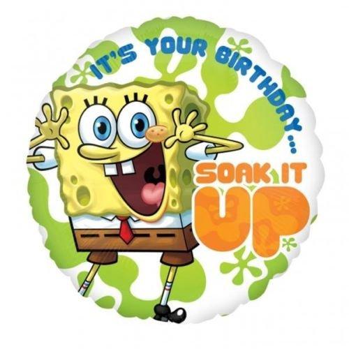 Bob Esponja Bob Esponja su tu cumpleaños remojar IT up globo ...