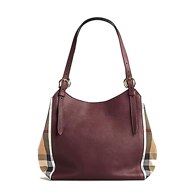 9cbbc6d3e32b Tote Bag Handbag Authentic Burberry Small Canter in Leather and House Mahogany  Red Color Made in Italy  Handbags  Amazon.com