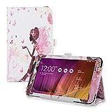 kwmobile Hülle für Asus Memo Pad 7 ME70C / ME170C mit Fee Mädchen Design und Ständer - Kunstleder Tablet Case Schutzhülle in Mehrfarbig Pink Weiß