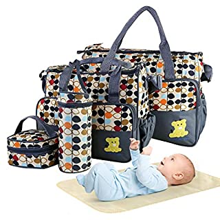 5PCS Diaper Bag Tote Set - Baby Bags for Mom
