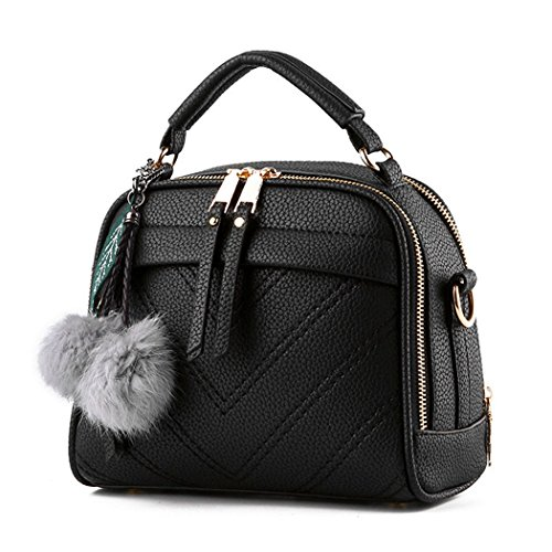 Purse Fashion Satchel Tote Handbag Hot FUNOC Bag Women Bags Leather Messenger Top Handle Pink Shoulder Pu 7q51Wvw5