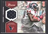 BEN TATE 2012 BOWMAN INSIDE THE NUMBERS GAME USED JERSEY TEXANS SP $12