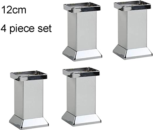 Patas para muebles, 4 juegos de estantes, aluminio, cuadradas ...