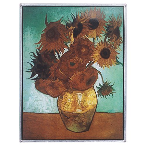 Stained Glass Panel - Van Gogh Sunflowers Stained Glass Window Hangings - Art Glass Window Treatments
