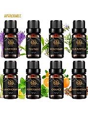 Aromatherapy Essential Oils Set, 100% Pure Essential Oils Kit - Peppermint, Orange, Eucalyptus, Lavender, Frankincense, Rosemary, Lemongrass, Tea Tree Therapeutic-Grade Essential Oils Set, 8x10ml