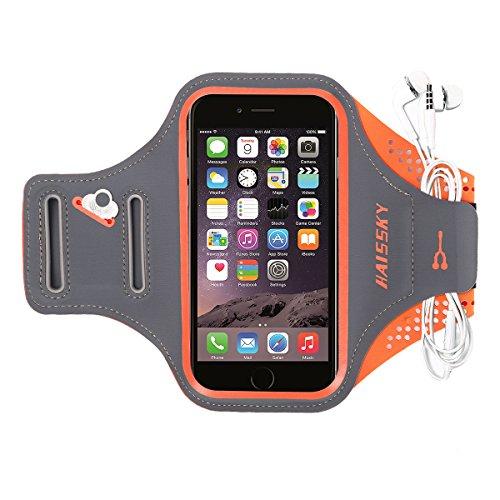 """HAISSKY Sport Armband für iPhone XS Max/XS/XR/X/8 Plus/7 Plus,Universell Handyhülle mit Schlüsselhalter Ideal für Laufen Wandern Jogging, Kompatibel mit Samsung Galaxy S8/S8 Plus/S7/S7 Edge bis 6.2"""""""