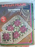 Geraniums Latch Hook Canvas #3401 - 15'' x 15''