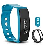 INFINITECH Bluetooth Fitness & Personal Activity Tracker Wristband (Waterproof) Monitor Calories Burned - Pedometer - Sleep Tracking | Call - Text Alerts | iOS - Android