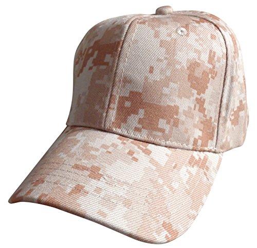 Desert Camo Baseball Cap (WB Plain Blank Baseball Caps with Adjustable Velcro Closure (Many Colors) (Light Desert Digital)