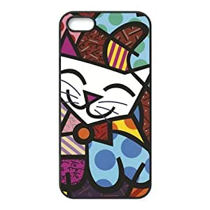 Custom Design TPU Rubber Hard Soft Compound Protective Cover Case for iPhone 5 5s - Grumpy Cat