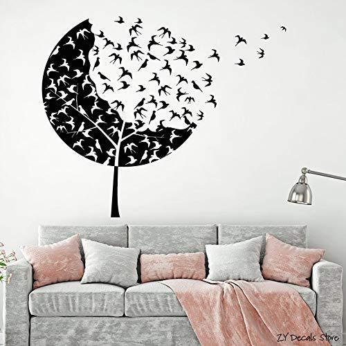 Bandada de pájaros Tatuajes de Pared del árbol Forestal Etiqueta ...