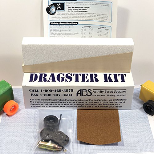Basswood Co2 Dragster Car Kit LSRAV/Metric - Wooden Project Kit for Building a Drag Racing Co2 Powered Car - Create and Race Your Own Fast Dragster - Great for Student Classroom Projects