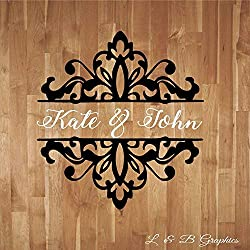 Enid545Anne Wedding Damask Personalized with Names Dance Floor Decal Vinyl Sticker Reception Wall Vinyl Sticker Lettering Decor