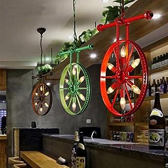 Hochwertig Zll/American Retro Industrielle Ideen/benutzerdefinierung Bar Kunst Lampen  Dorf Schmiedeeisen Esszimmer Lichter Rad