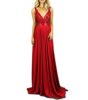 Baijinbai V Neck Prom Dresses Cocktail Evening Prom Party Bridesmaid Dresses Red UK08