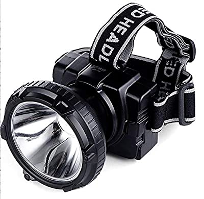 ZLHW LED Rechargeable Super Bright Headlight Adjustable Headband Flashlight Head with Fishing searchlight