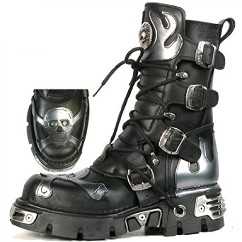 New Rock Boots M.156-c1 Gotico Hardrock Punk Unisex Stiefel Schwarz