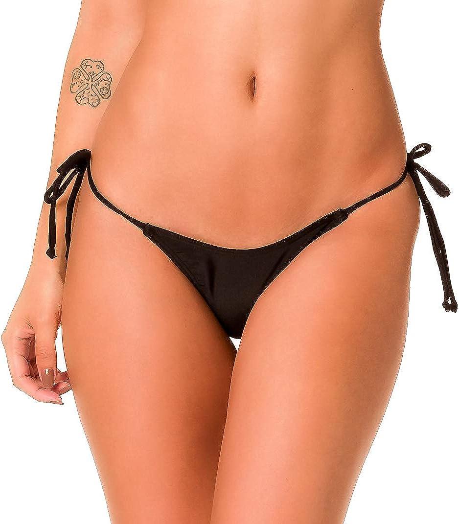 Coqueta ladies Brazilian Bikini Bottom Teeny Micro Thong Mini G STRING WHITE