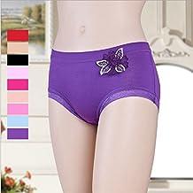 LDHE-underwear underpants Bamboo fiber lace flower ladies briefs panties