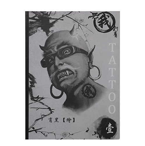 Tattoo Supplies Reference Book Picture Instruction Sheet Flash Art Dragon Mermaid Devil Pattern
