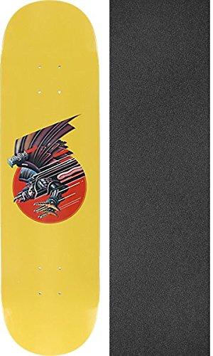 散歩失望させる人類Real Skateboards鳥Screaming Birdスケートボードデッキ – 7.81 X 31.75 CMでMob Grip Perforated Griptape – 2アイテムのバンドル