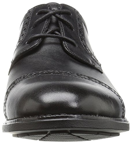 Mens Rockport Mens Madson Cap Toe Oxford Nero