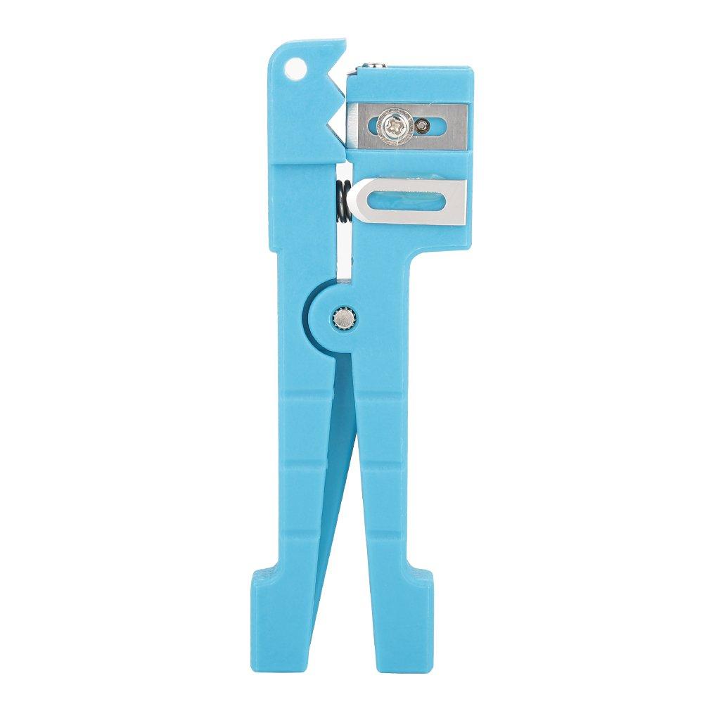 Bewinner Stripper de Chaqueta de Fibra /Óptica Herramienta de Corte de Cable Coaxial Separador de Alambre 45-162 Azul 45-162 45-163 45-163