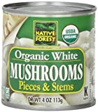 Native Forest Organic Mushrooms, Pieces & Stems, 4-Ounce Cans (Pack of 12)