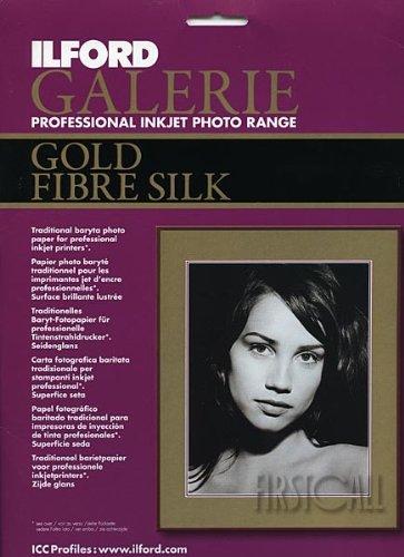 ILFORD Galerie Professional Inkjet 8.5 x 11-Inches, 50 Sheet, Gold Fibre Silk (115 - Gold Silk Fiber