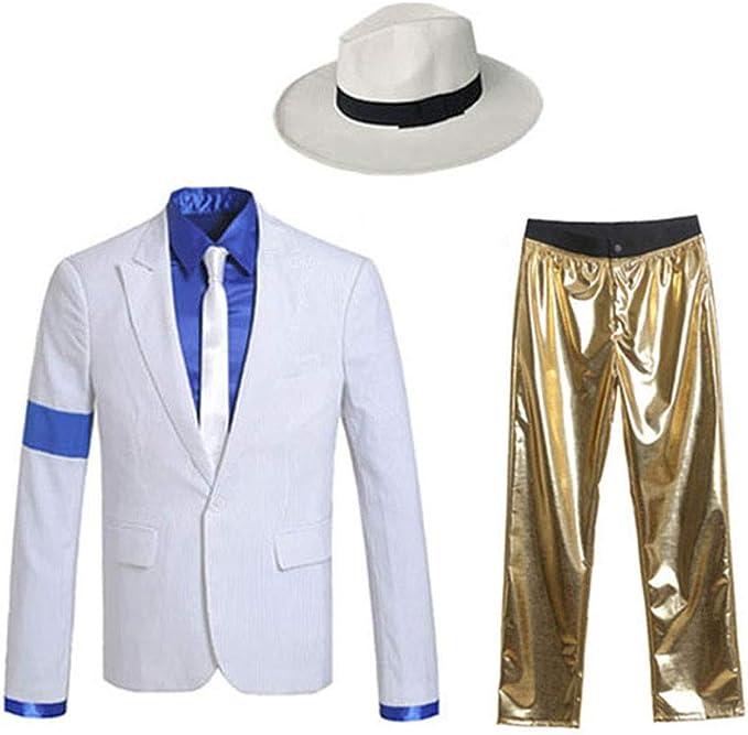 SMOOTH CRIMINAL WIG Fancy Dress MICHAEL JACKSON BAD
