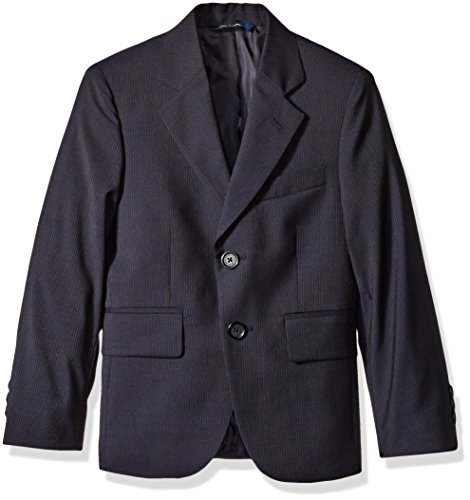 Brooks Brothers Big Boys' Pinstripe Suit Jacket, Navy/Pin Stripe, 12 by Brooks Brothers