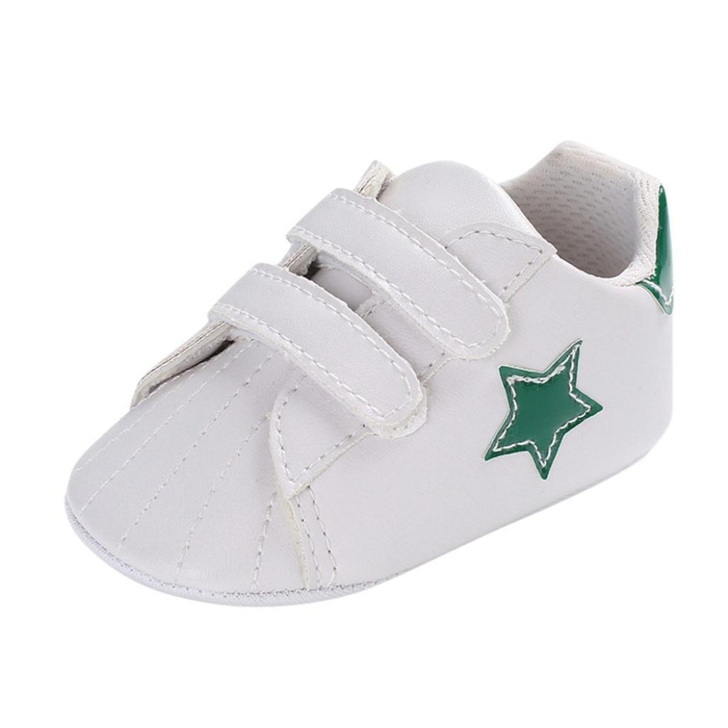 SOMESUN Fashion Kleinkind Baby Jungen Sandalen Neugeborenes Krippe Schuhe Star Sommer Atmungsaktiv Kunstleder Weiche Sohle Anti-Rutsch Beiläufig Freizeit Turnschuhe (12-18 Monate, Grün #2) Grün #2)