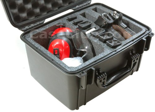 Case Club Waterproof 2 Pistol Case & Accessory Pocket with Silica Gel by Case Club